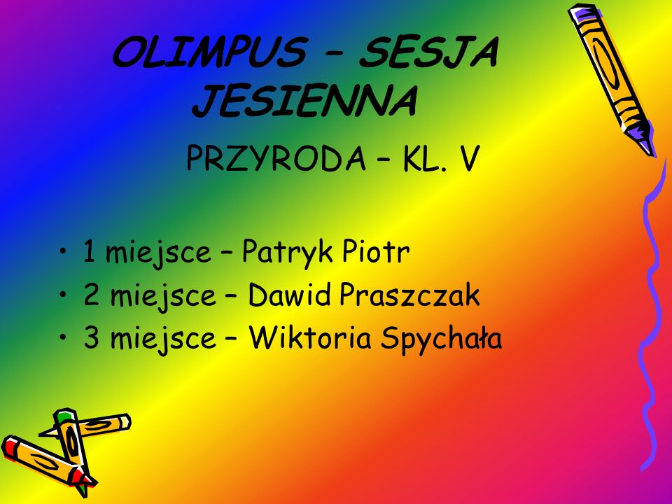 OLIMPUS – SESJA JESIENNA