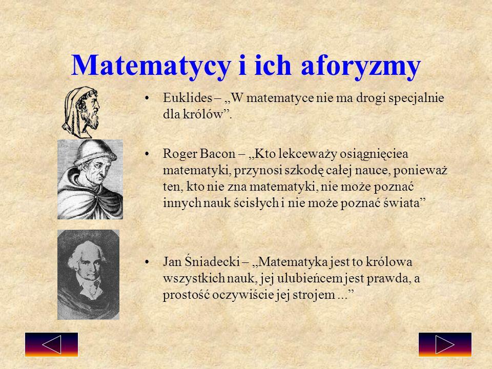 Matematycy i ich aforyzmy