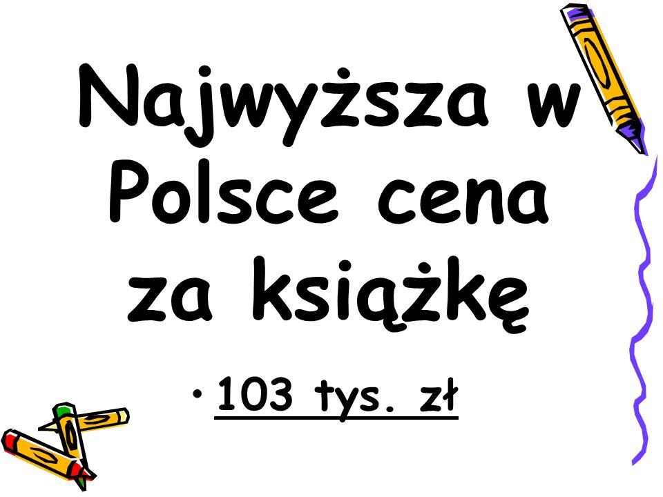 Najwyższa w Polsce cena za książkę