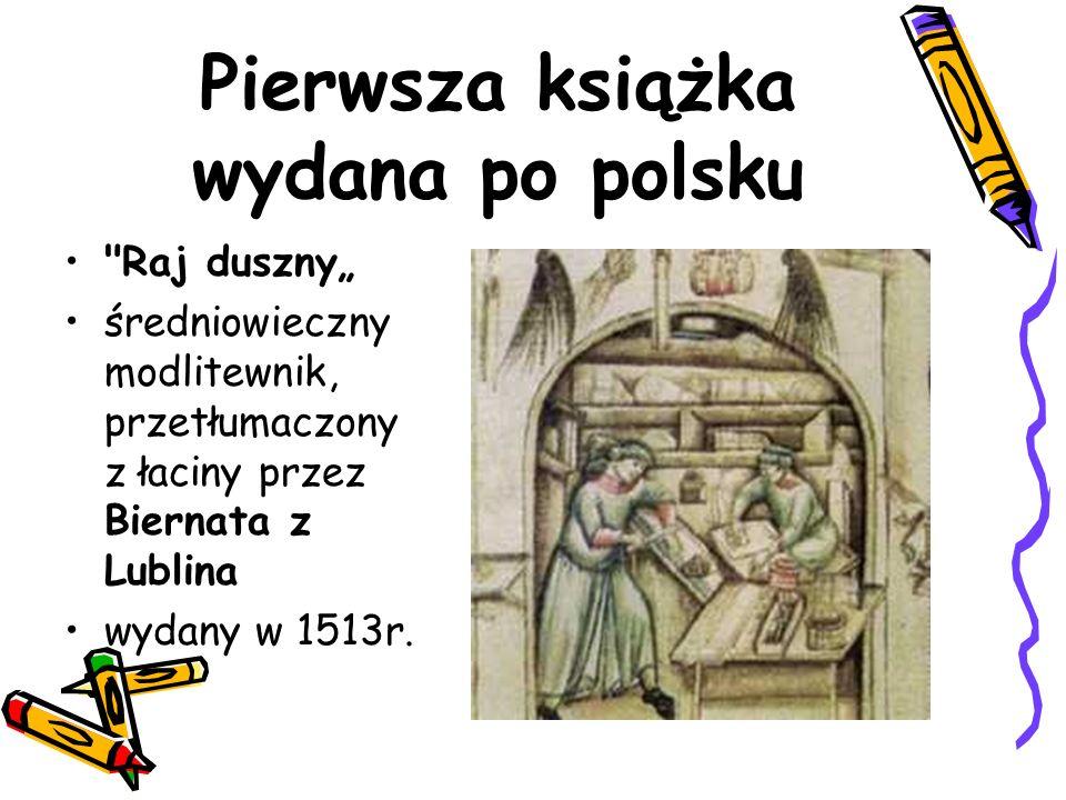 Pierwsza książka wydana po polsku