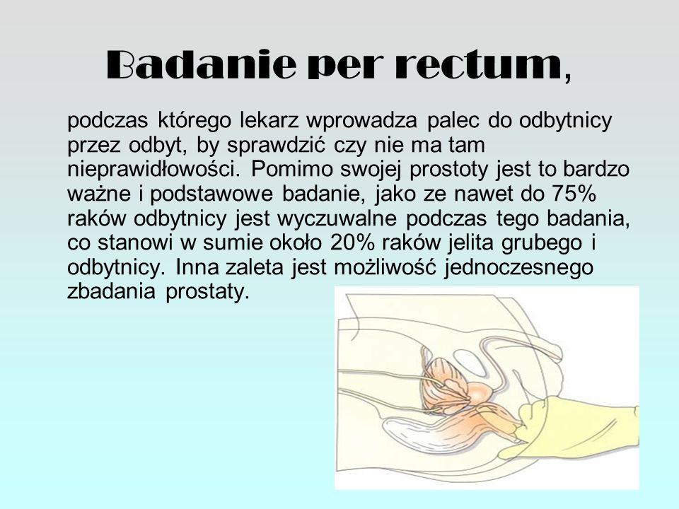 Badanie per rectum,