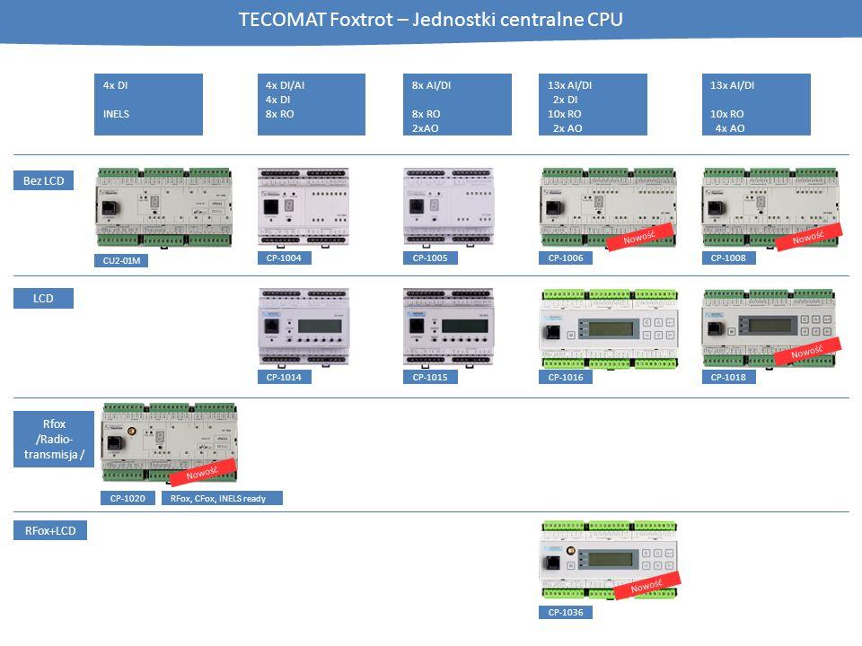 TECOMAT Foxtrot – Jednostki centralne CPU