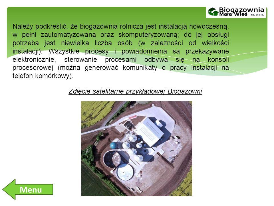 Należy podkreślić, że biogazownia rolnicza jest instalacją nowoczesną, w pełni zautomatyzowaną oraz skomputeryzowaną; do jej obsługi potrzeba jest niewielka liczba osób (w zależności od wielkości instalacji). Wszystkie procesy i powiadomienia są przekazywane elektronicznie, sterowanie procesami odbywa się na konsoli procesorowej (można generować komunikaty o pracy instalacji na telefon komórkowy).