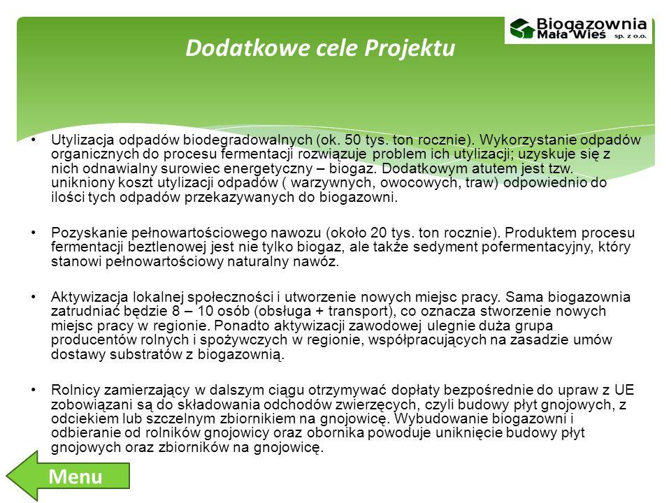 Dodatkowe cele Projektu