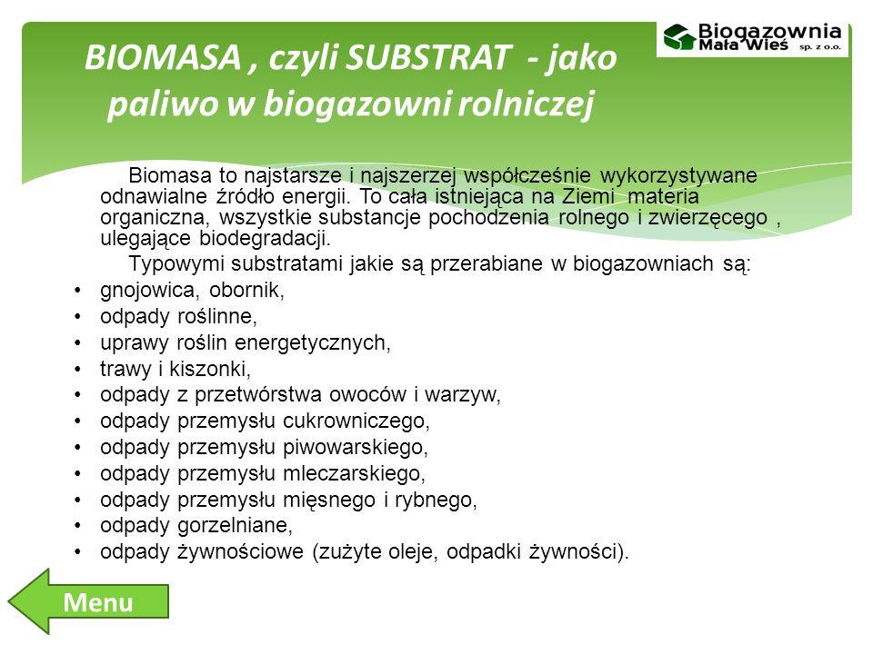 BIOMASA , czyli SUBSTRAT - jako paliwo w biogazowni rolniczej