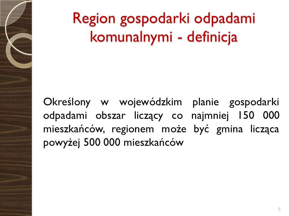 Region gospodarki odpadami komunalnymi - definicja