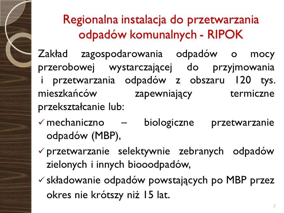 Regionalna instalacja do przetwarzania odpadów komunalnych - RIPOK