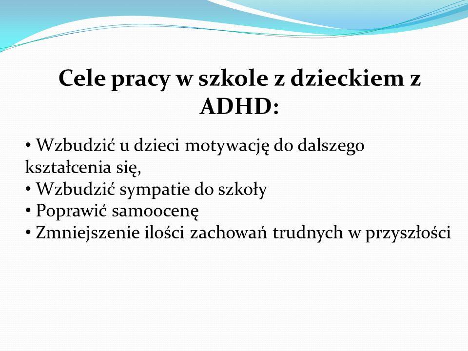 Cele pracy w szkole z dzieckiem z ADHD: