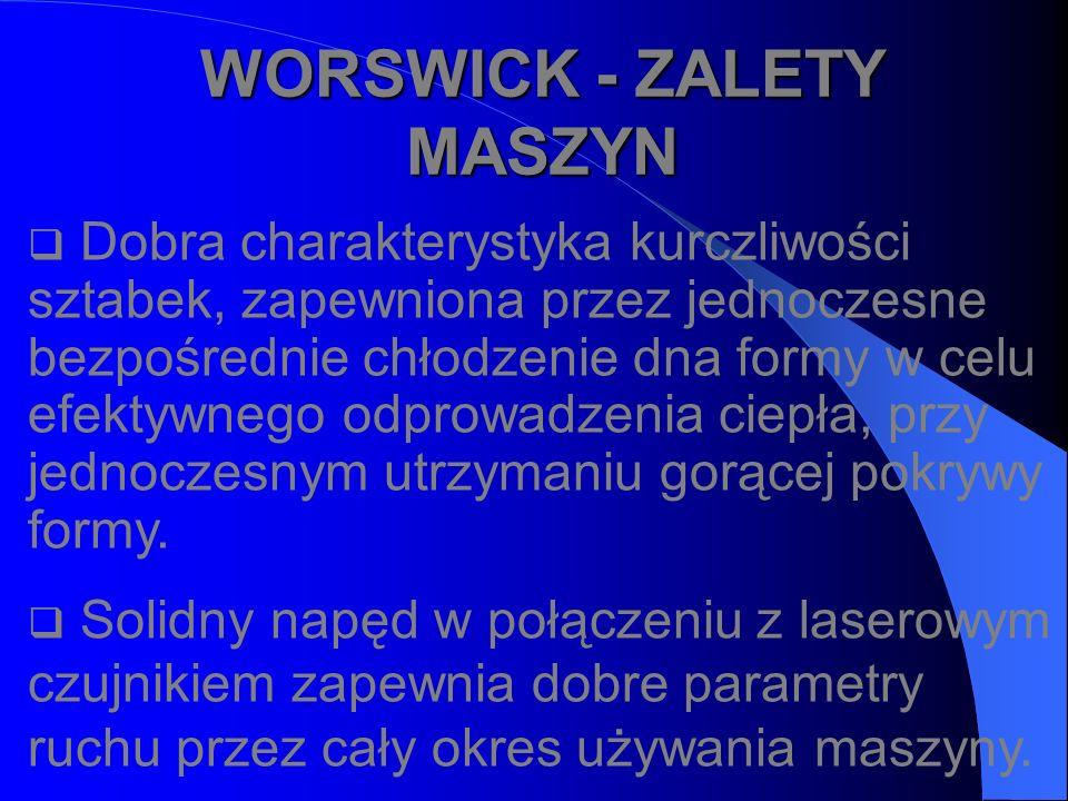 WORSWICK - ZALETY MASZYN