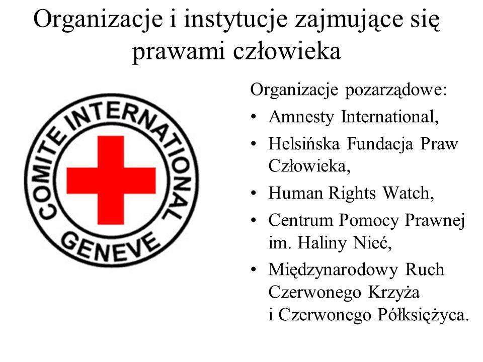 Organizacje i instytucje zajmujące się prawami człowieka