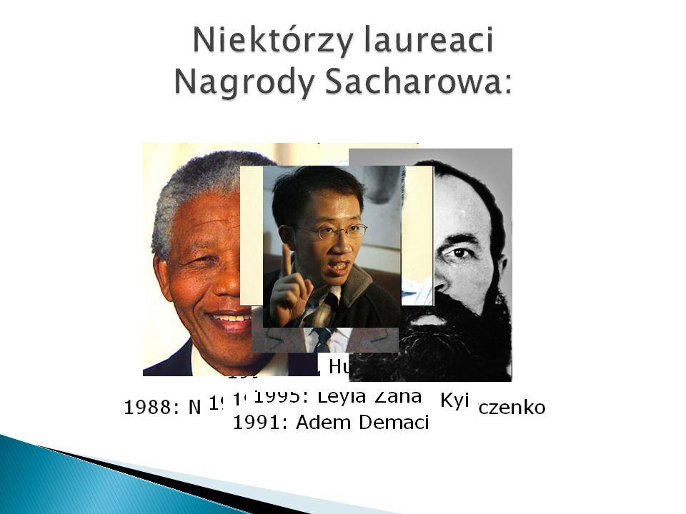 Niektórzy laureaci Nagrody Sacharowa:
