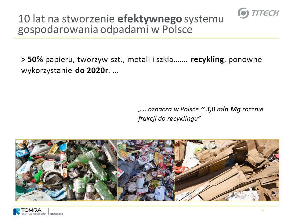 10 lat na stworzenie efektywnego systemu gospodarowania odpadami w Polsce