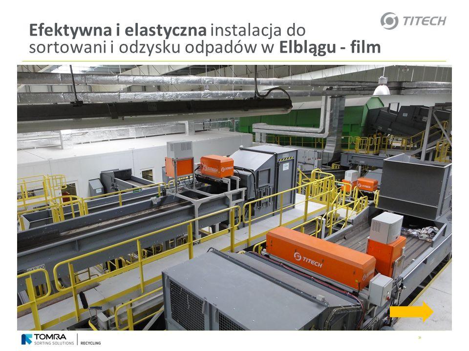 Efektywna i elastyczna instalacja do sortowani i odzysku odpadów w Elblągu - film
