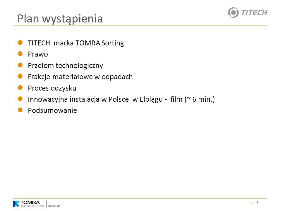 Plan wystąpienia TITECH marka TOMRA Sorting Prawo