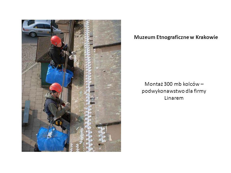 Montaż 300 mb kolców – podwykonawstwo dla firmy Linarem