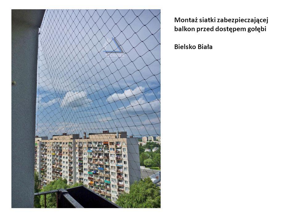Montaż siatki zabezpieczającej balkon przed dostępem gołębi
