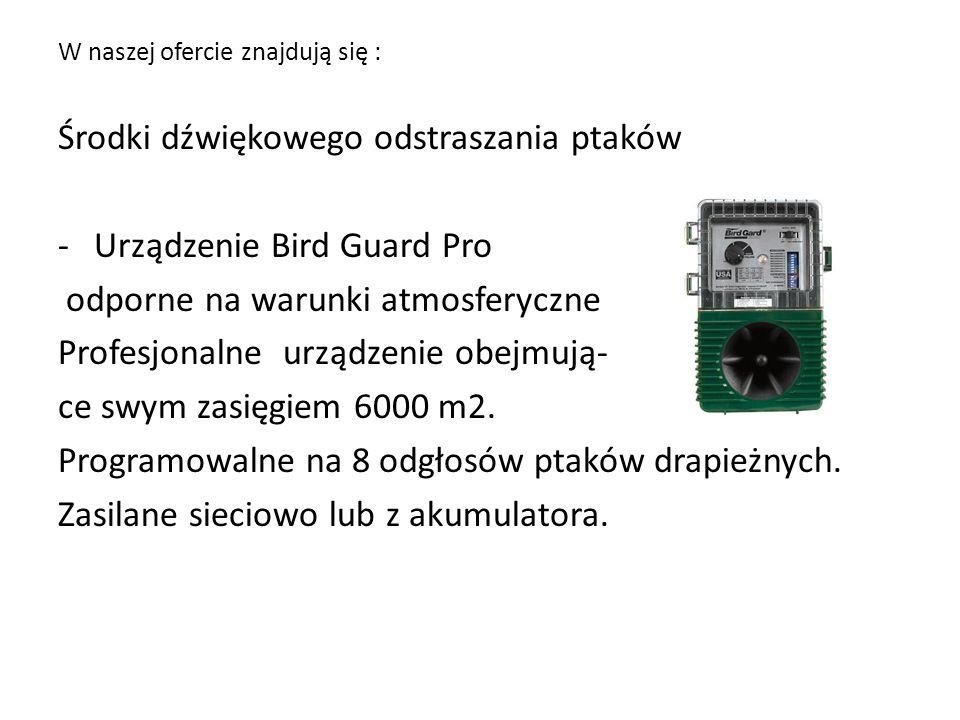 Środki dźwiękowego odstraszania ptaków Urządzenie Bird Guard Pro