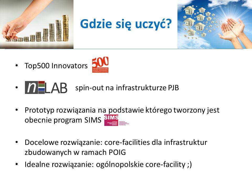Gdzie się uczyć Top500 Innovators spin-out na infrastrukturze PJB