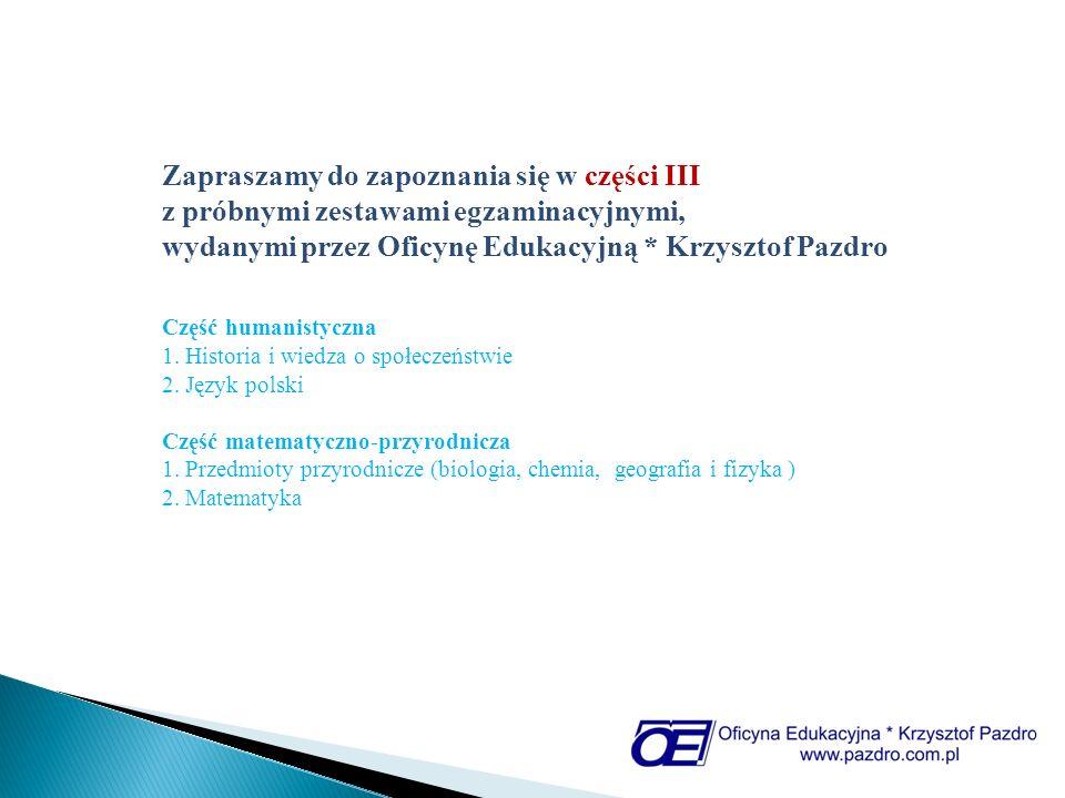 wydanymi przez Oficynę Edukacyjną * Krzysztof Pazdro