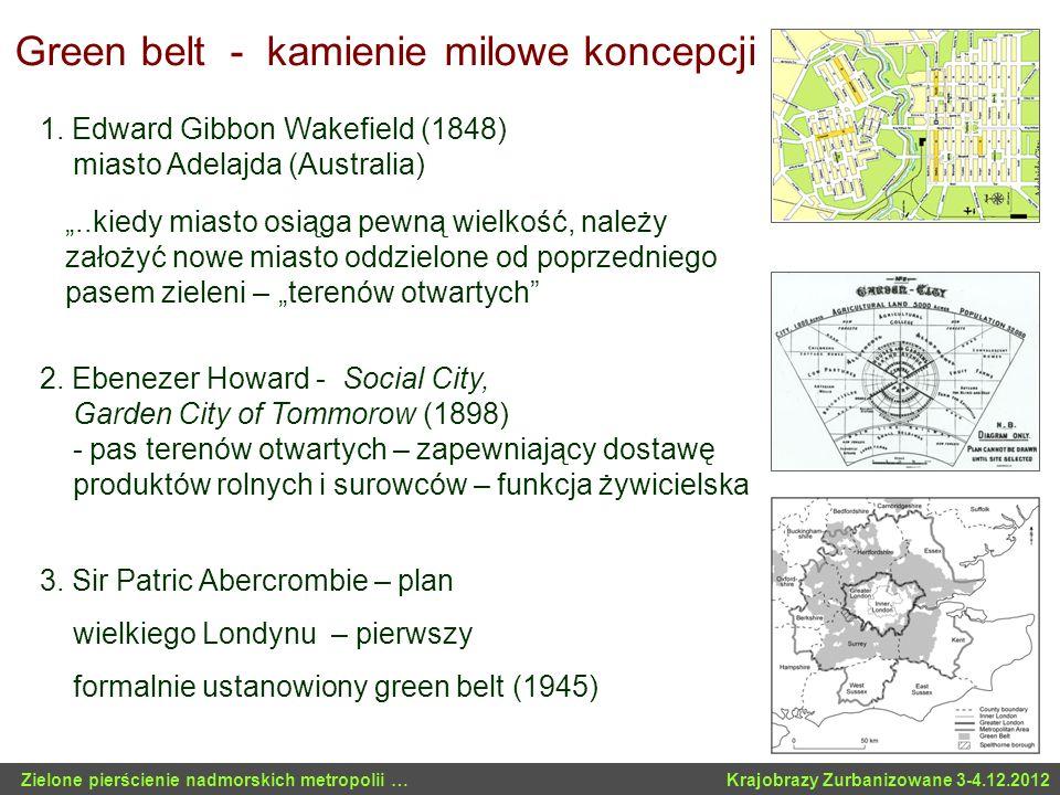 Green belt - kamienie milowe koncepcji