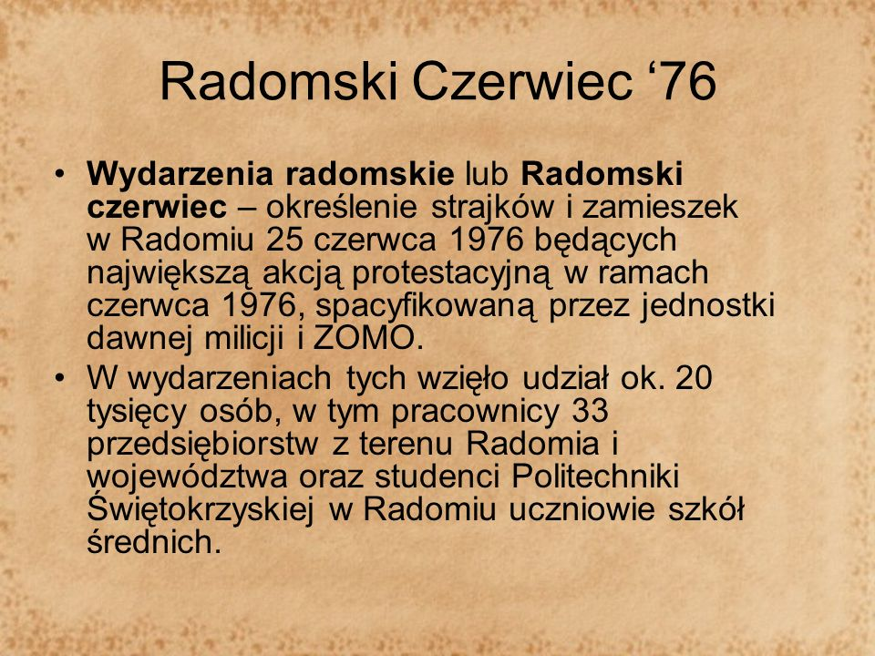 Radomski Czerwiec '76