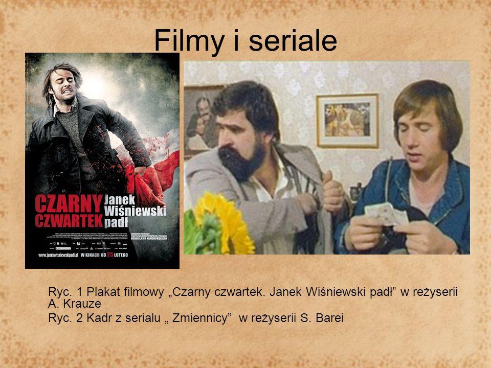 """Filmy i serialeRyc. 1 Plakat filmowy """"Czarny czwartek. Janek Wiśniewski padł w reżyserii A. Krauze."""