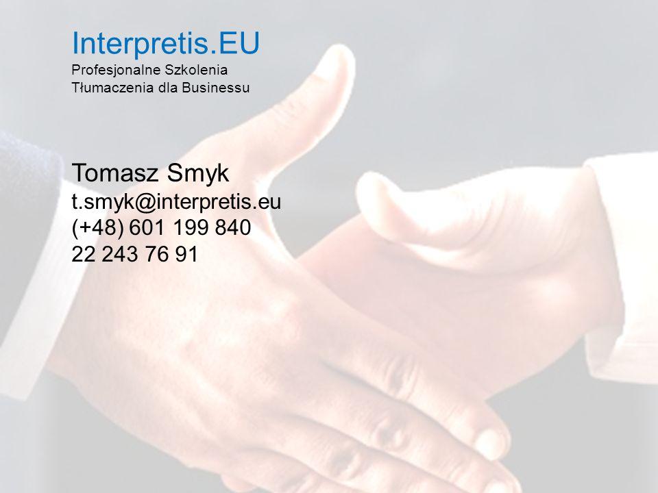 Interpretis.EU Profesjonalne Szkolenia Tłumaczenia dla Businessu