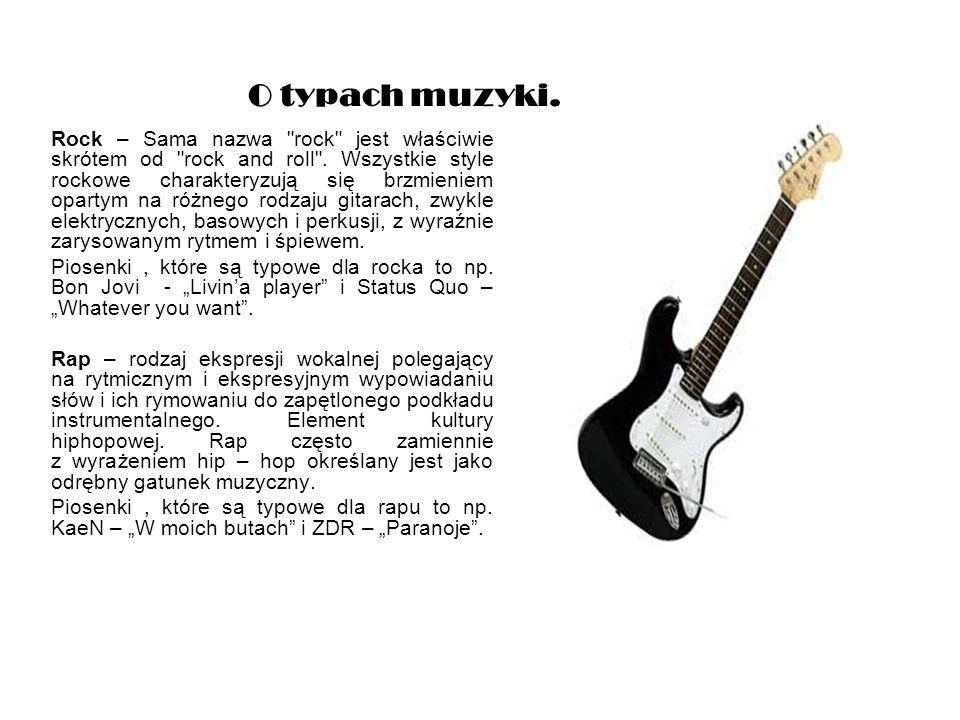 O typach muzyki.