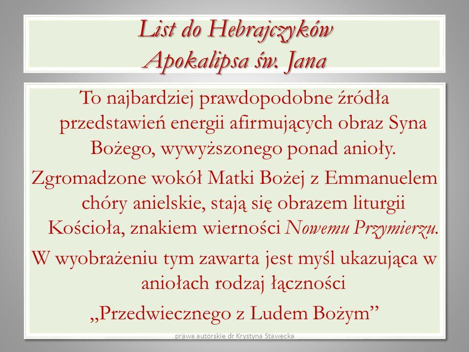 List do Hebrajczyków Apokalipsa św. Jana