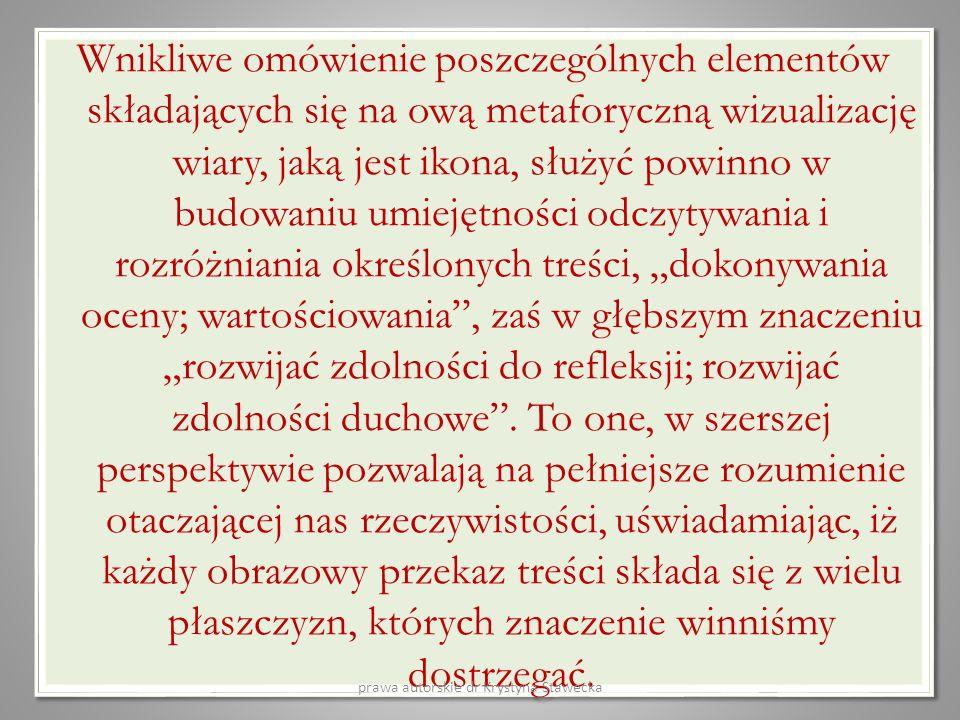 prawa autorskie dr Krystyna Stawecka