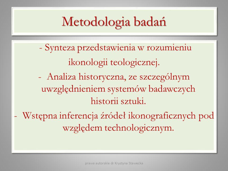 Metodologia badań - Synteza przedstawienia w rozumieniu