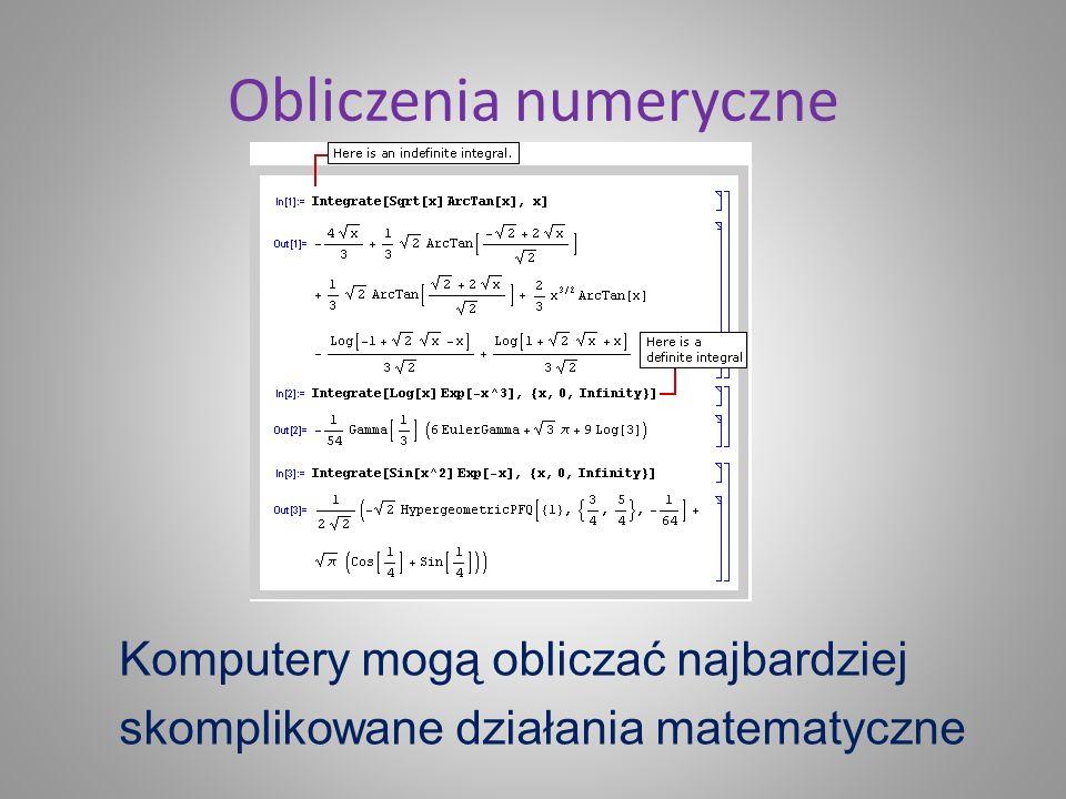 Obliczenia numeryczne