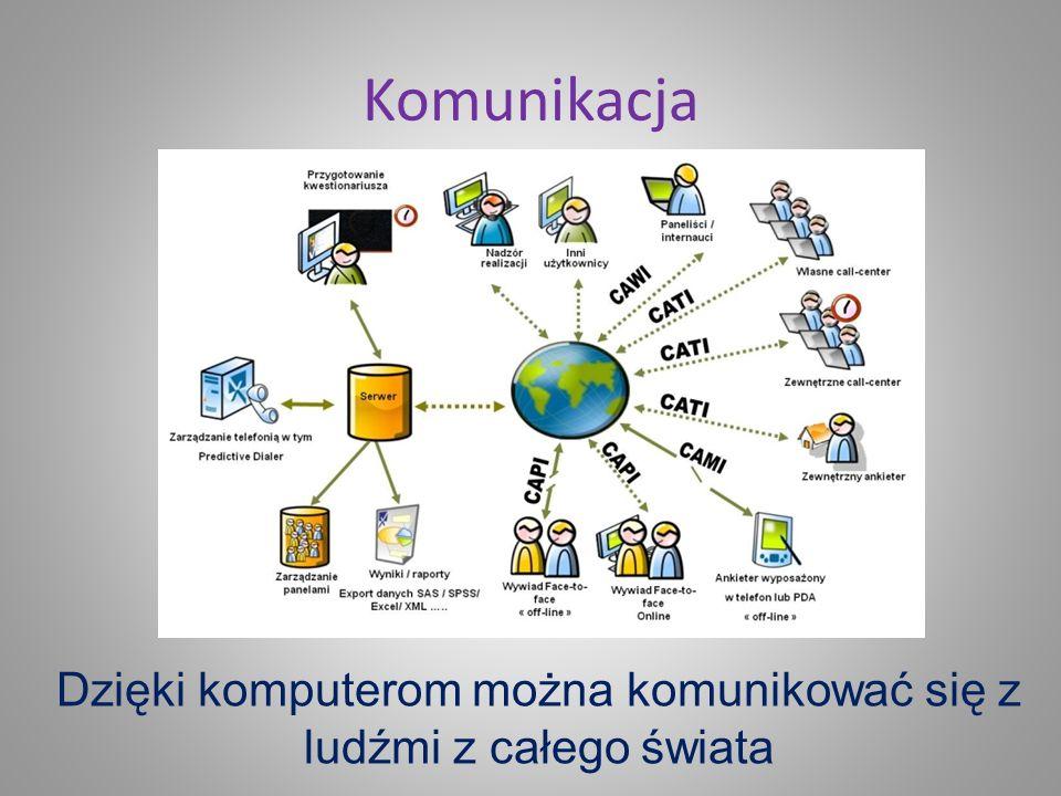 Dzięki komputerom można komunikować się z ludźmi z całego świata
