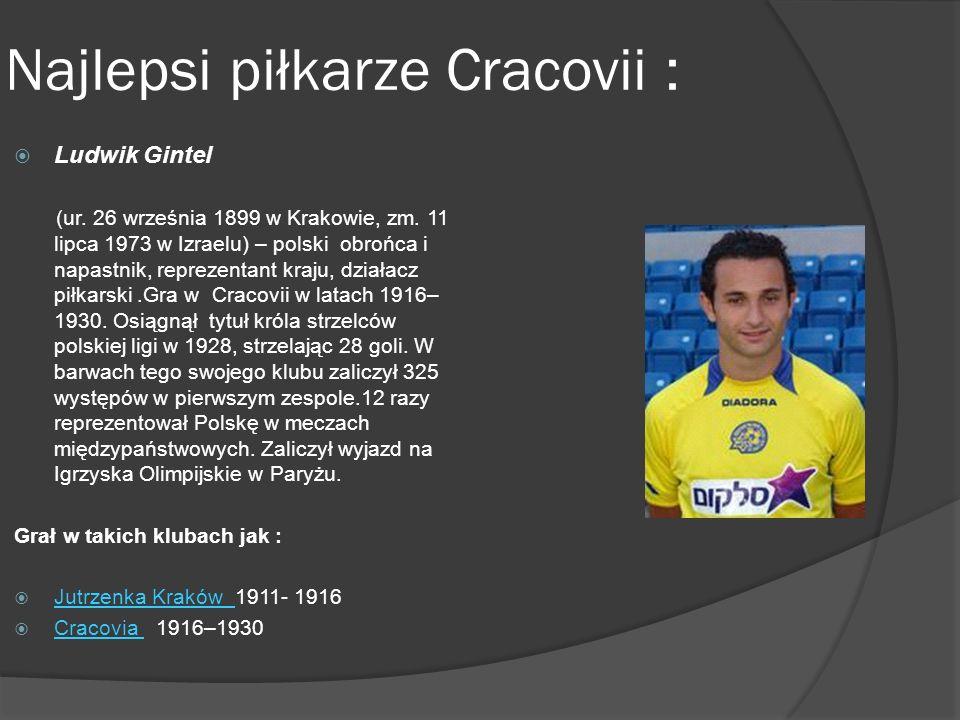 Najlepsi piłkarze Cracovii :