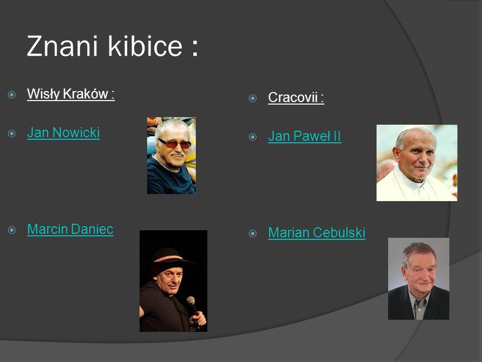 Znani kibice : Wisły Kraków : Cracovii : Jan Nowicki Jan Paweł II
