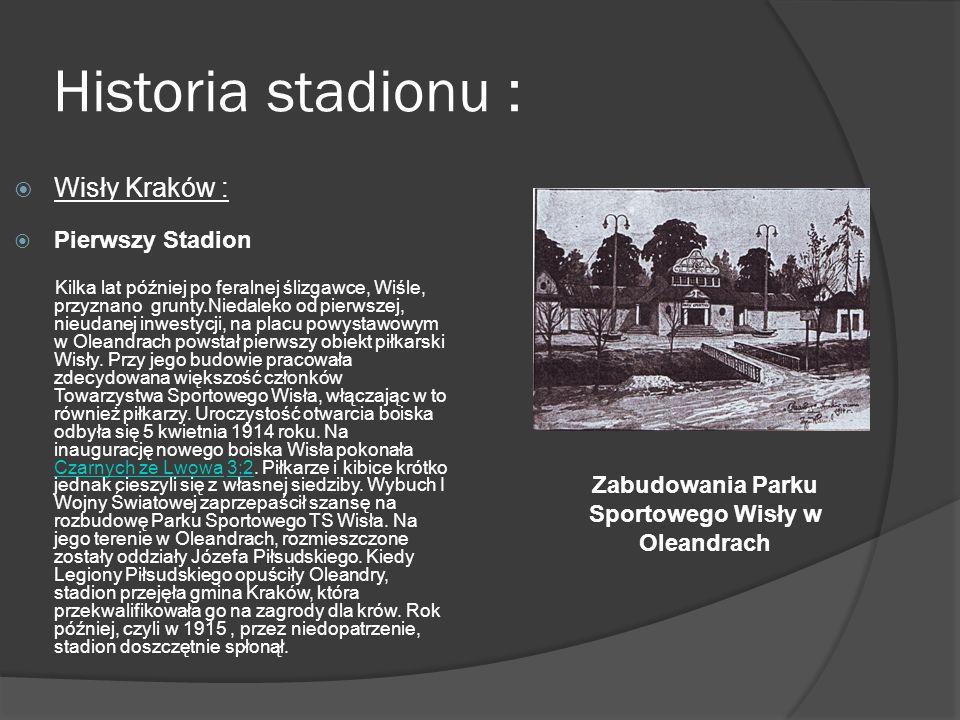 Zabudowania Parku Sportowego Wisły w Oleandrach