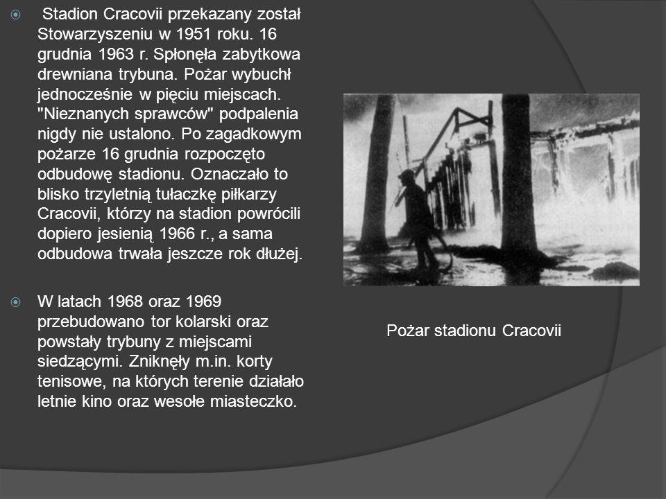 Stadion Cracovii przekazany został Stowarzyszeniu w 1951 roku