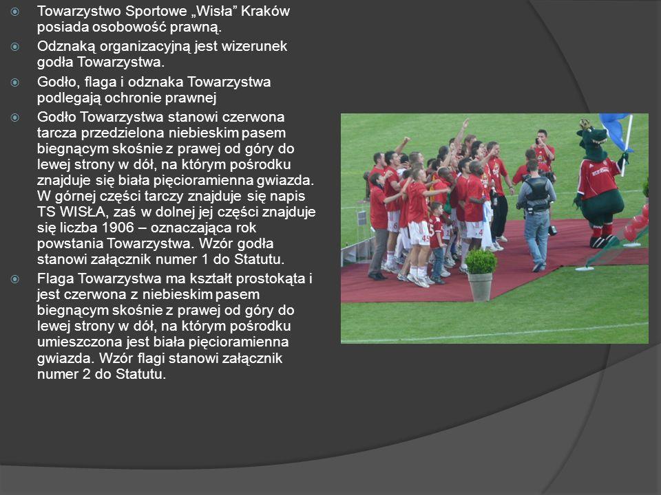 """Towarzystwo Sportowe """"Wisła Kraków posiada osobowość prawną."""