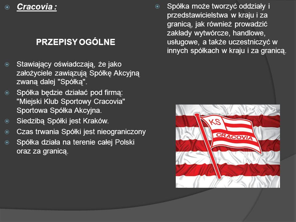 Cracovia : PRZEPISY OGÓLNE