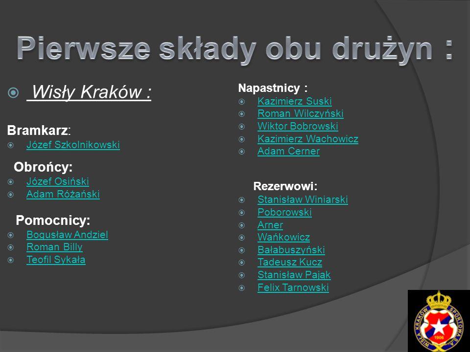 Pierwsze składy obu drużyn :