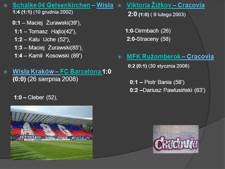 Schalke 04 Gelsenkirchen – Wisła 1:4 (1:1) (10 grudnia 2002)