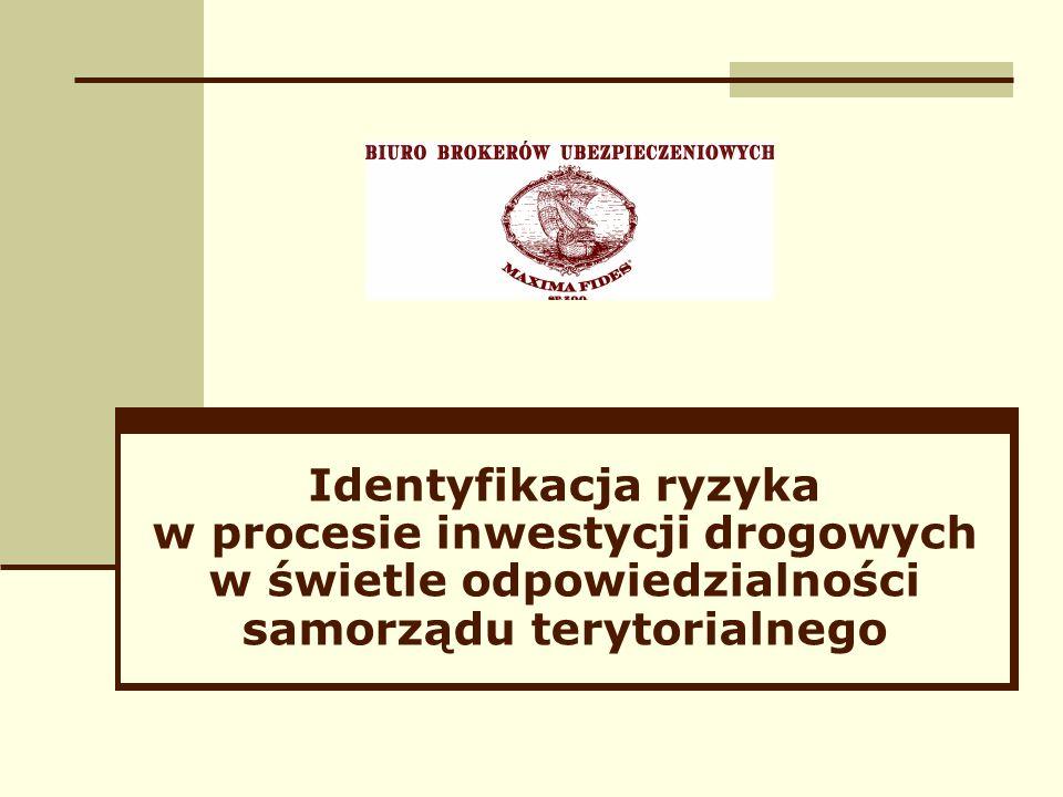 Identyfikacja ryzyka w procesie inwestycji drogowych w świetle odpowiedzialności samorządu terytorialnego