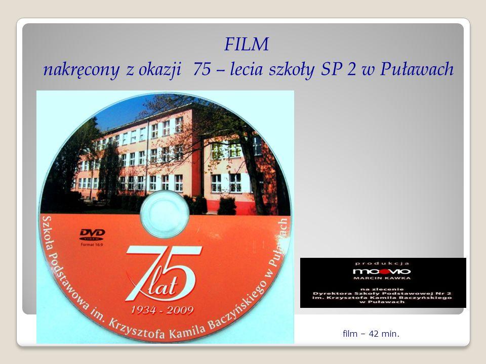 FILM nakręcony z okazji 75 – lecia szkoły SP 2 w Puławach
