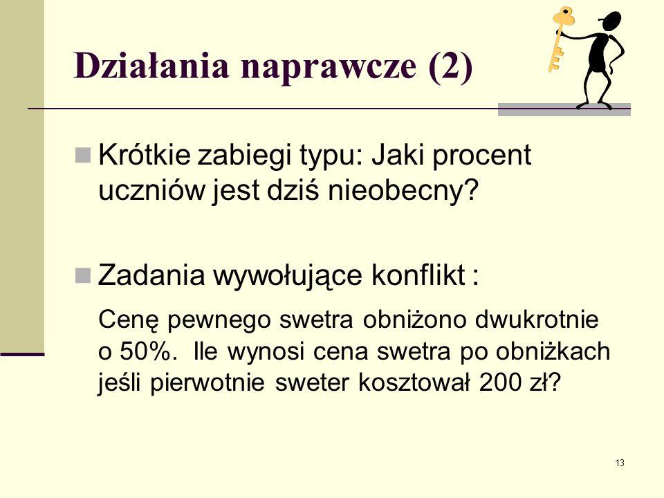 Działania naprawcze (2)