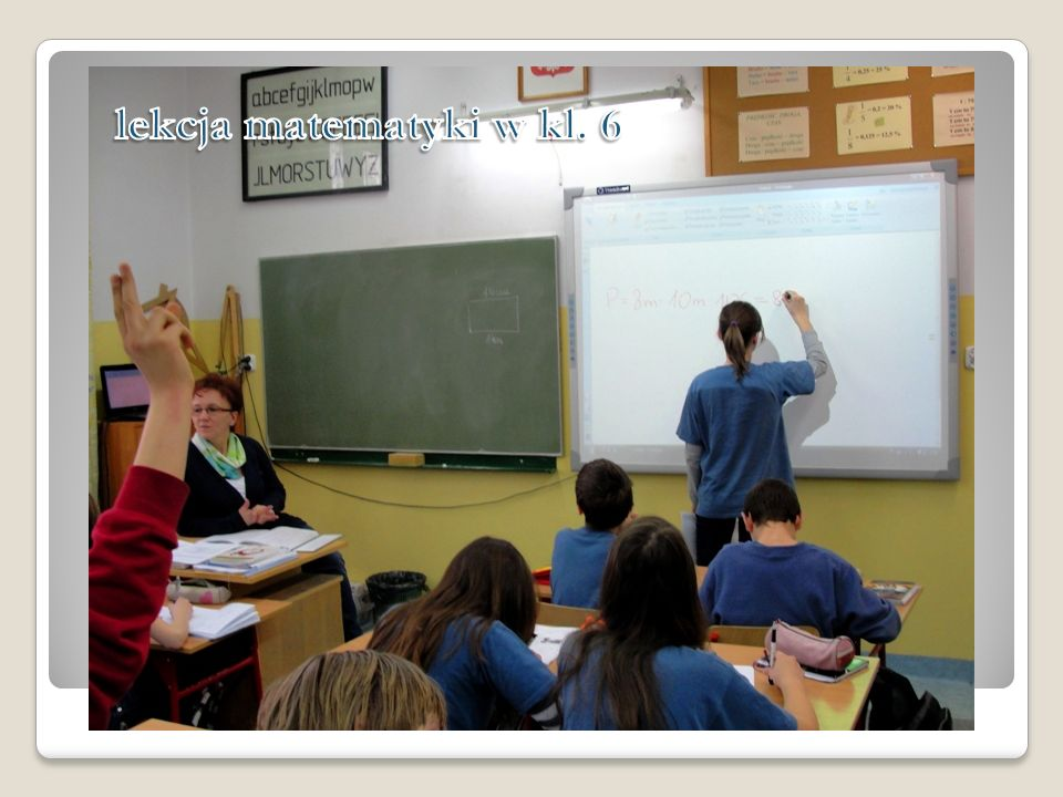 lekcja matematyki w kl. 6