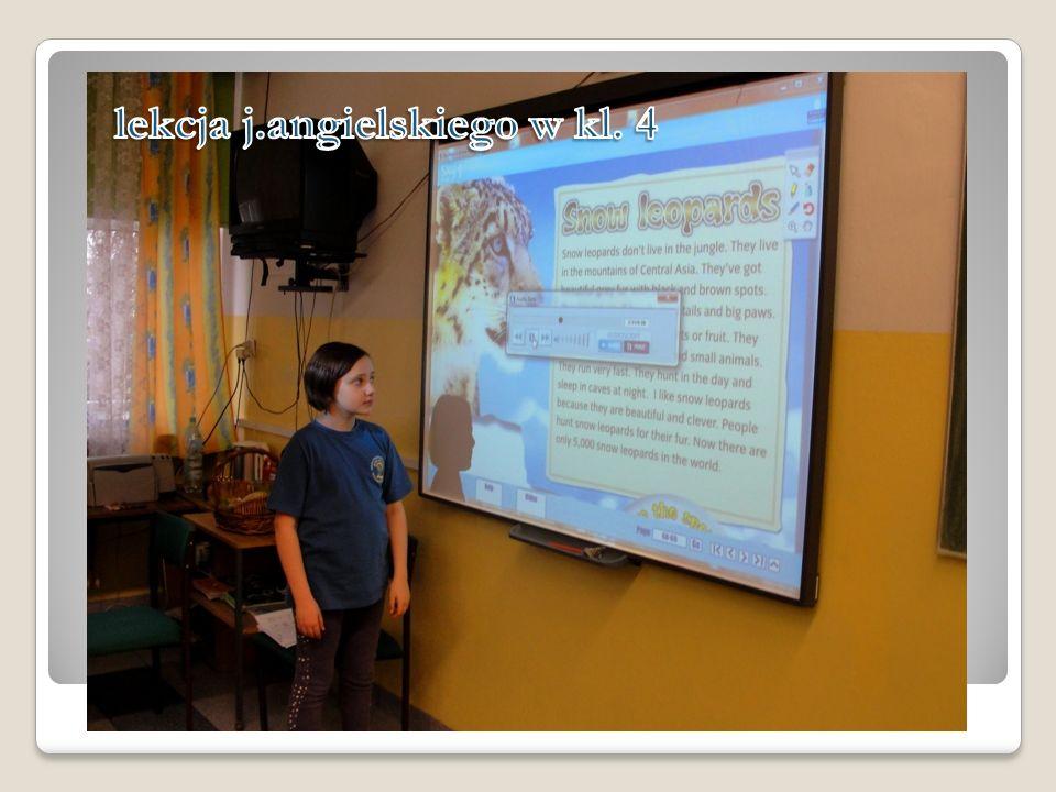 lekcja j.angielskiego w kl. 4