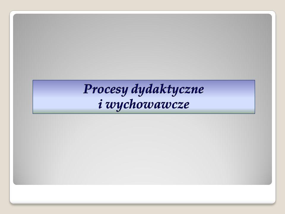Procesy dydaktyczne i wychowawcze