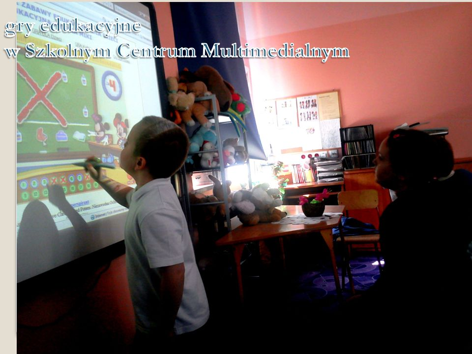 gry edukacyjne w Szkolnym Centrum Multimedialnym