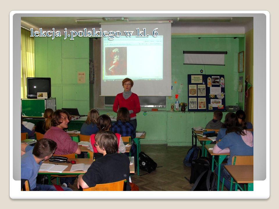 lekcja j.polskiego w kl. 6