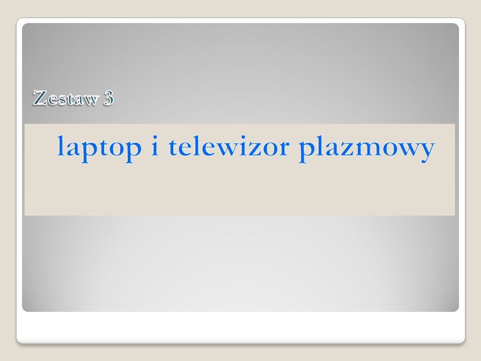 laptop i telewizor plazmowy